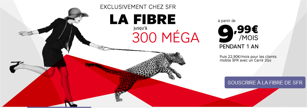 debit fibre optique sfr