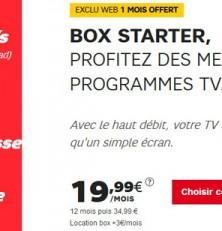 La box ADSL de SFR à partir de 19,99€!
