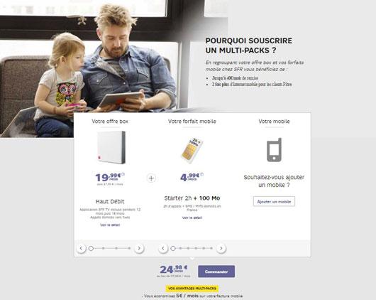 multipack sfr une offre internet et un forfait mobile partir de 24 98 mois offre internet. Black Bedroom Furniture Sets. Home Design Ideas