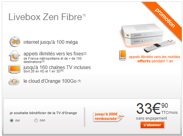 version décodeur tv4 orange