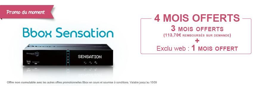 4 mois offerts bbox sensation