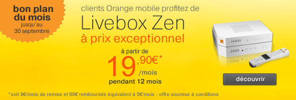 nouvelle promotion sur la livebox zen d 39 orange offre internet. Black Bedroom Furniture Sets. Home Design Ideas
