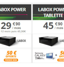 50€ de réduction sur les offres internet LaBox Power Numericable!