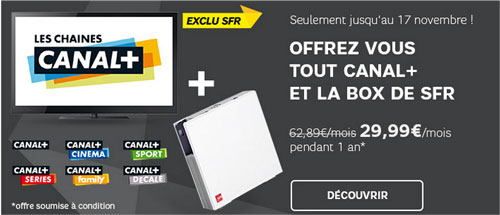 la box sfr moins de 30 avec canal offre internet. Black Bedroom Furniture Sets. Home Design Ideas