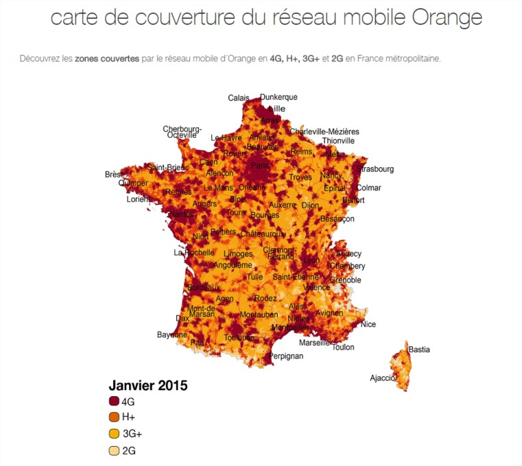 couverture 4G orange