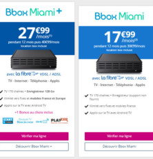 La Bbox Miami actuellement à 17,99€