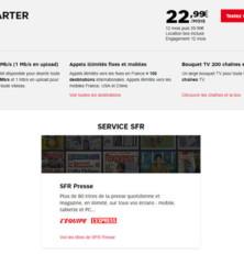 La box ADSL de SFR à partir de 22,99€/mois