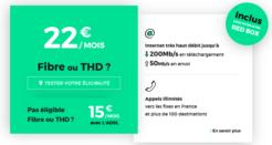 L'offre RED Fibre à 22€/mois (sans frais de location de la box)