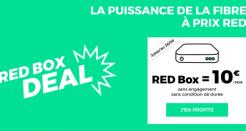 L'offre RED Fibre à 10€/mois (sans frais de location de la box) !