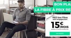 L'offre RED Fibre à 15€/mois jusqu'au 6 juillet!