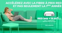 L'offre RED Fibre à 19,99€/mois (sans frais de location de la box) !