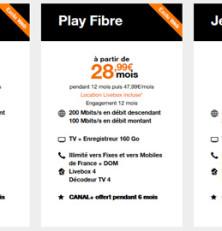 Les offres fibre optique d'Orange