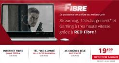 Une nouvelle offre RED Fibre à moins de 20€/mois!