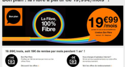 Les abonnements fibre Orange moins chers actuellement!