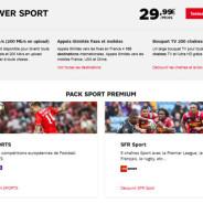 Power Sport et Power Cinéma : 2 offres SFR à 29,99€/mois orientées contenus