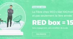 L'offre RED Fibre à 15€/mois (sans frais de location de la box) !