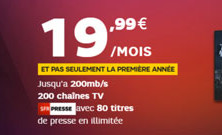 SFR lance une box en série limitée à moins de 20€/mois